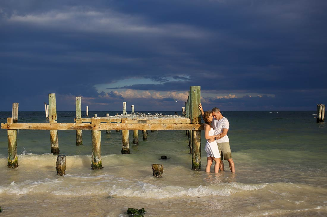 engagement photo studio cancun