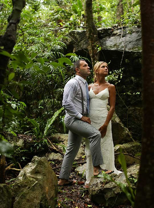 trash the dress in cenotes wedding photography riviera maya