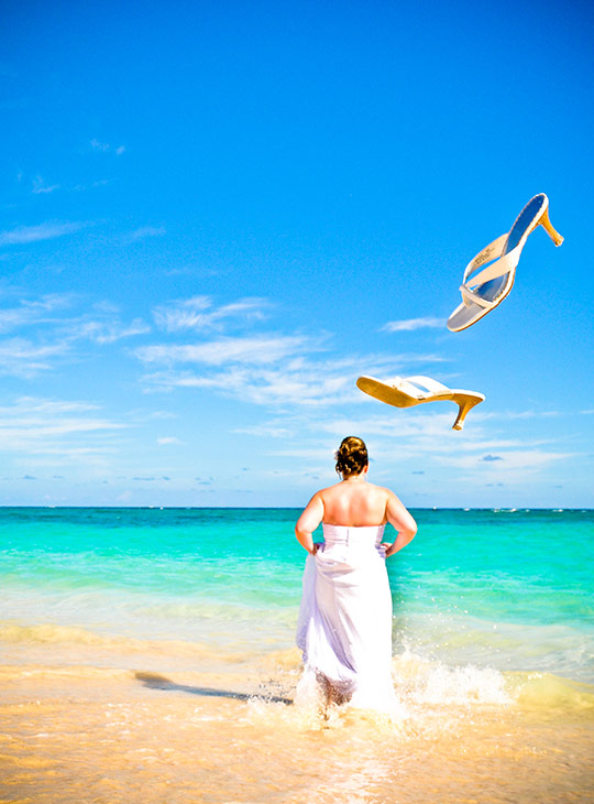 trash the dress in punta cana beach wedding photography