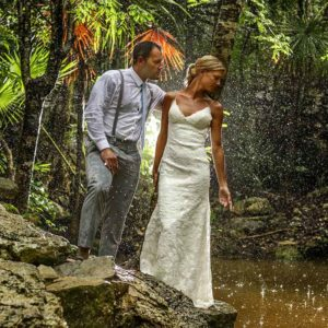 trash the dress in riviera maya cenote wedding photography