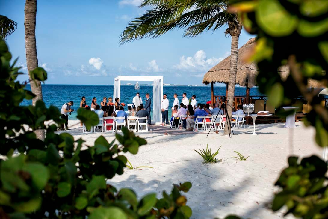 photoshoot in beloved playa mujeres wedding ceremony photos