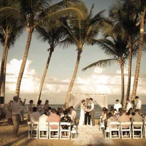 wedding ceremony on the beach excellence el carmen