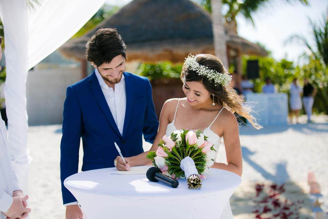 wedding ceremony photography in beloved playa mujeres