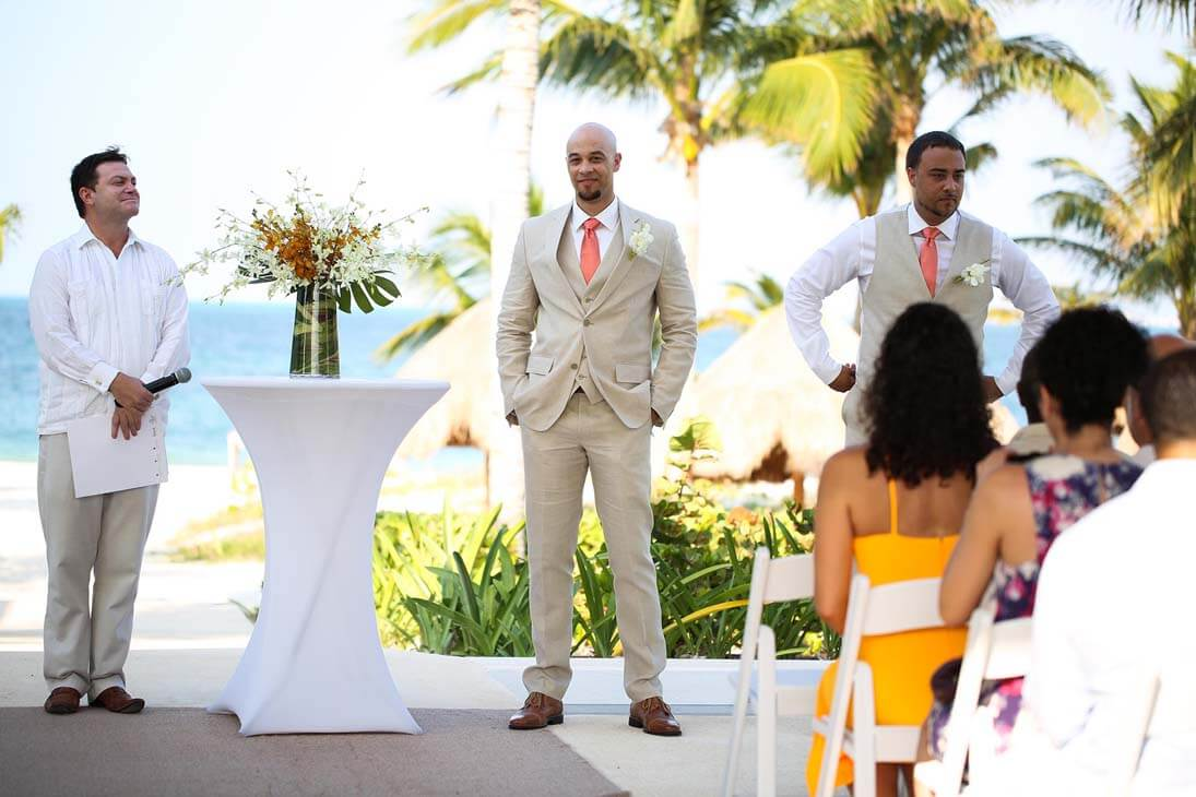 wedding ceremony photography in finest playa mujeres1