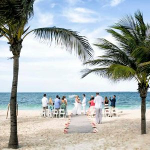 wedding ceremony photography in hotel beloved playa mujeres