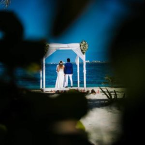 wedding ceremony photos in beloved playa mujeres