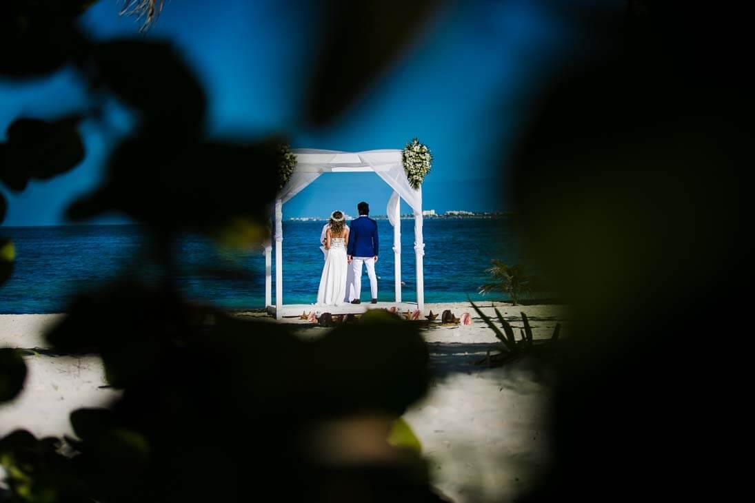 wedding ceremony photos in beloved playa mujeres
