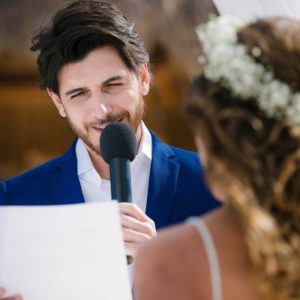 wedding ceremony photos in hotel beloved playa mujeres