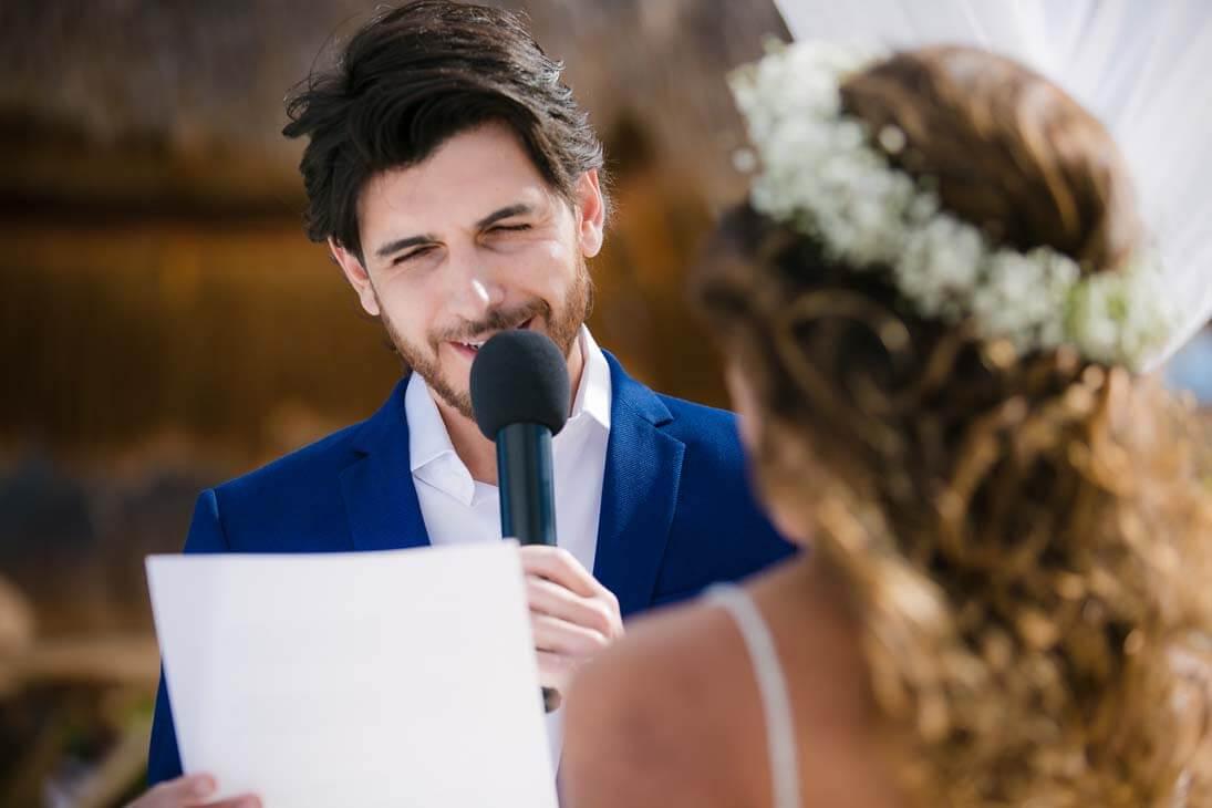 wedding ceremony photos in hotel beloved playa mujeres