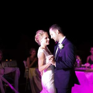 wedding photography bride and groom dance in excellence el carmen