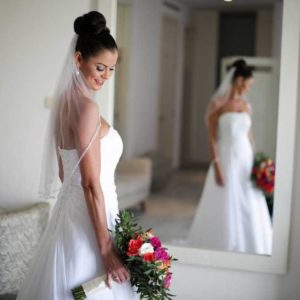 wedding photography bride with dress