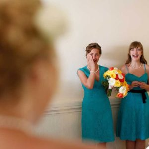wedding photography getting ready bride and maids