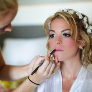 wedding photography in beloved playa mujeres getting ready