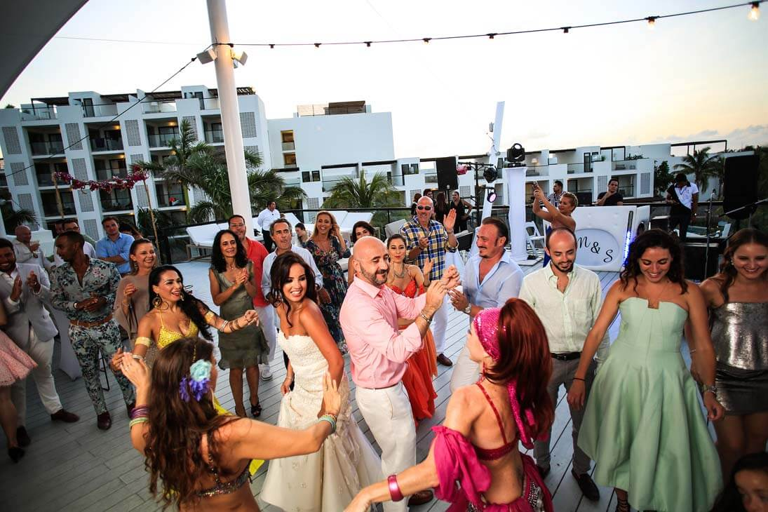 wedding reception photography in finest playa mujeres1